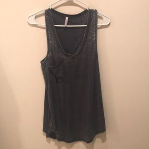 Z Supply Distressed Racerback Tank - Size Small